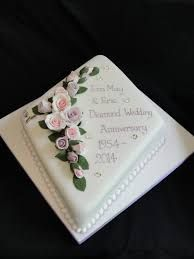 Image result for diamond wedding anniversary cakes Diamond Wedding Anniversary Cake, Image