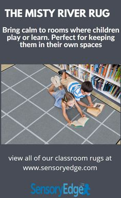 The Misty River Seating Rug brings calm to classrooms with gray squares and off white lines. Perfect for keeping children in their own spaces during morning attendance, lesson plans and games. Classroom Organization, Classroom Management, Classroom Rugs, Going To California, Attendance, Things To Know, Learning Activities, Kids Playing, Lesson Plans