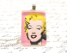 Marilyn Monroe necklace, $11 on Etsy