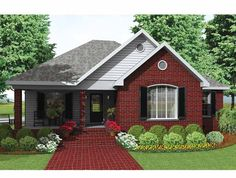 Traditional House Plan with 1600 Square Feet and 3 Bedrooms from Dream Home Source   House Plan Code DHSW54325
