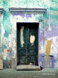 Old Door 4 by Darian Day by Mexicolors Art Photography Tuscan Art, Reindeer Silhouette, Mexico Art, Vintage Doors, Peeling Paint, Paint Effects, Old Doors, Door Wall, Painted Doors