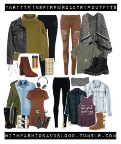 Ygritte inspired cold weather roadtrip outfits by withfashionandblood on Polyvore featuring Miss Selfridge, J.Crew, Madewell, Vero Moda, H&M, RVCA, WearAll, NIKE, WithChic and Office