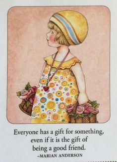 Everyone Has A Gift-Handmade Fridge Magnet-Mary Engelbreit Artwork