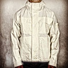 Stone Island White Ventile Ghost Jacket