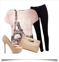 """paris shirt"" by coley0622 on Polyvore"