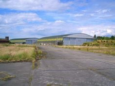 UK, RAF Swinderby - abandoned hangars