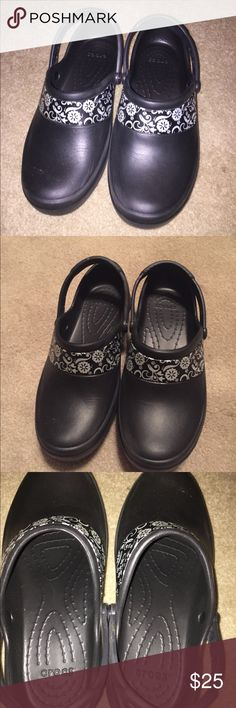 b42ea07bc76c Black Mercy Work Crocs No slip grip bottoms