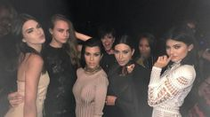 Balmain campaign team at Olivier Rousteing's birthday party - Kendall Jenner, Cara Delevingne, Kourtney Kardashian, Kris Jenner, Kim Kardashian and Kylie Jenner Kourtney Kardashian, Kardashian Family, Kardashian Jenner, Kardashian Style, Kardashian Beauty, Kardashian Photos, Kardashian Kollection, Kendall E Kylie Jenner, Kim And Kylie