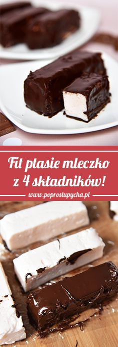 Fit ptasie mleczko z 4 składników! Fit marshmallow with 4 ingredients is a great fit snack, e. Healthy Sweets, Healthy Recipes, Natural Yogurt, Food Cakes, Chocolate Desserts, 4 Ingredients, Marshmallow, Cake Recipes, Food And Drink