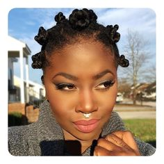 Popular Bantu Knots Hairstyle protective styles for afro-textured hair are box tress, twists, weaves, sew-ins and the like. Pelo Natural, Natural Hair Care, Natural Hair Styles, Natural Twists, Bantu Knot Hairstyles, Protective Hairstyles, Afro Hair Types, Curly Hair Styles, Afro Braids