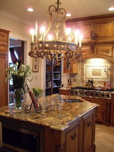 French Country Kitchen design ideas and decor, gorgeous island