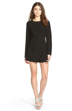 Lucca+Couture+Long+Sleeve+Stretch+Crepe+Romper+available+at+#Nordstrom