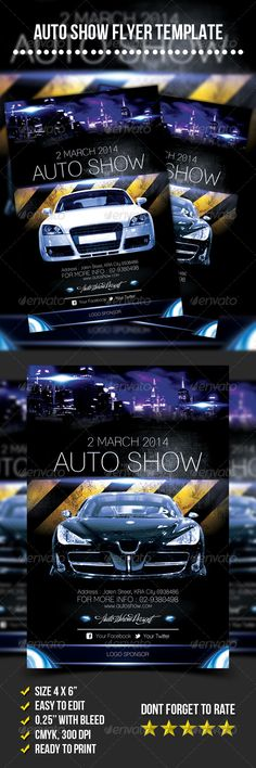Classic Car Show flyer #2 Flyer template, Template and Cars - auto detailing flyer template
