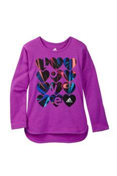 adidas Warm-Up Tee (Toddler Girls)
