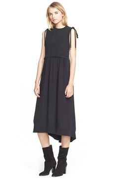 Free shipping and returns on Sea Sleeveless Denim & Silk Midi Dress at Nordstrom.com. A raw-edged denim bodice releases into a floaty silk-crepe skirt on a sleeveless mixed-media dress that exudes downtown cool. Eyelet-laced ties detail the shoulders, lending the feminine-with-an-edge look that Sean Monahan and Monica Paolini are known for.