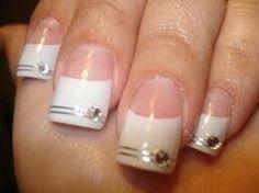 44 Mejores Imágenes De Uñas Punta Blanca De Acrilico Fingernail