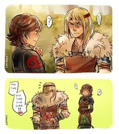 Genderbend hiccup and astrid