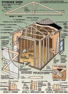 Shed Plans - Shed Plans Now You Can Build ANY Shed In A Weekend Even If You've Zero Woodworking Experience. - Now You Can Build ANY Shed In A Weekend Even If You've Zero Woodworking Experience! Diy Storage Shed Plans, Storage Building Plans, Wood Shed Plans, Building A Shed, Built In Storage, Coop Plans, Storage Sheds, Building Design, Building Ideas
