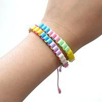 Tutorials on Making Spring Colorful Beads Bracelet
