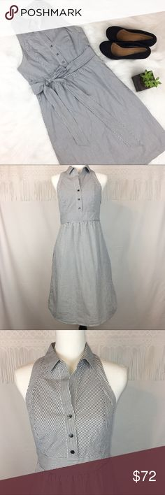 Anthropologie Maeve Fountain of Youth Dress Anthropologie's brand Maeve blue & white striped Fountain of Youth dress. Size 6. Approximate measurements flat laid are 38' long & 16' bust. EUC with no major flaws stains or tears. Has very deep pocket! ❌No trades ❌ Modeling ❌No PayPal or off Posh transactions ❤️ I Bundles ❤️Reasonable Offers PLEASE ❤️ Anthropologie Dresses Mini