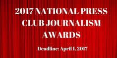 National Press Club Journalism Awards @USA are waiting for you. Send your best work entry by April 1. http://www.prnewswire.com/news-releases/time-is-now-to-get-entries-ready-for-your-best-work-in-2016-enter-the-national-press-club-journalism-contest-300426133.html