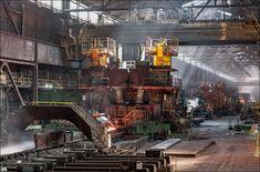 TATA Steel IJmuiden, roughing stand at the hot strip mill Tata Steel, Steel Mill, Industrial Photography, Switzerland, Concept Art, Environment, Cabin, Inspirational, Google