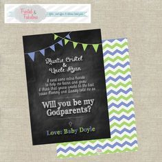 God Parent Card by FrostedandFabulous on Etsy