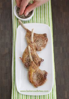 Easy Lamb Chops                                        Lamb chops are one of my absolute FAVORITE  cuts of meat. While I can probably come up with a bunch of fancy things to do with them, I typically make them just like this – simply seasoned and properly cooked to a medium-rare level of doneness.  #balancedbites #lamb #lambchops
