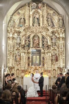 Inside Of St Francis Isi Chapel Mission Inn Wedding