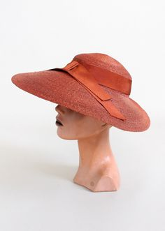 red straw sun hat 1940's - Google Search