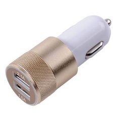 Aluminium 2-Port USB Universal Car Charger  #value #quality #phonecases #case #iPhone #Samsung #htc #alcatel #doogee #sony