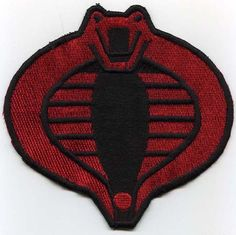 "GI Joe Cobra Commander / Stormshadow Small 3"" Embroidered Patch. $5.99, via Etsy. Would be an extra 3 for shipping for all 4"