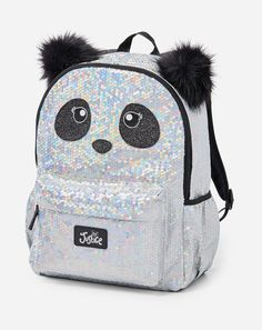 Justice is your one-stop-shop for on-trend styles in tween girls clothing & accessories. Shop our Sparkle Panda Wristlet. Justice Backpacks, Justice Bags, Mini Backpack Purse, Sequin Backpack, Cute Mini Backpacks, Girl Backpacks, My Bags, Purses And Bags, Fashion Bags