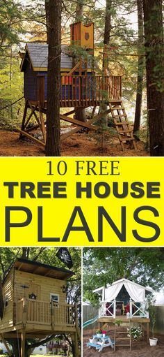 ideas about Kid Tree Houses on Pinterest   Tree Houses  Tree    Every kid    s dream is to have a treehouse  and   these plans along   instructions  you can create a house on tree your kids will love