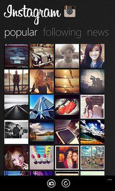 Instagram for Windows Phone concept