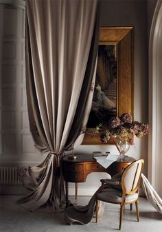 Drape the home in Luxury Curtains. Pick up Opaque Luxury Curtains and Sheer Luxury Curtains at Macy's. Classic Decor, Classic Interior, Timeless Elegance, Classic Style, Interior Exterior, Home Interior, Interior Decorating, Beautiful Space, Beautiful Homes
