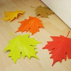 Autumn Leaf Door Stopper Red