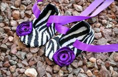 Super Adorable Purple_Zebra Print Baby Shoes!