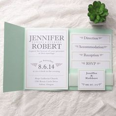 love the design!!! Would take it if some font colors can be changed to peach or pink. mint green green pocket wedding invitations with free rsvp cards
