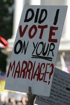 No one's marriage should require a vote.