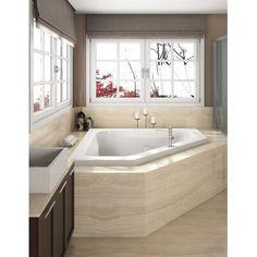 Jacuzzi Tub Decor, Corner Jacuzzi Tub, Jacuzzi Bathroom, Master Bathroom Tub, Corner Tub Shower, Corner Soaking Tub, Bathroom Tubs, Half Bathrooms, Master Bedroom
