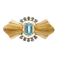 Tiffany & Co. Aquamarine Brooch | 1stdibs.com