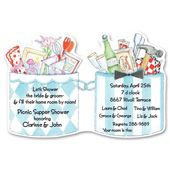 Couple Shower Die-cut Bridal Shower Invitations, 11841