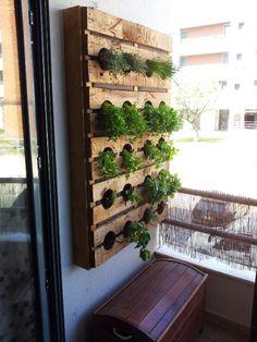 My pallet aromatic garden