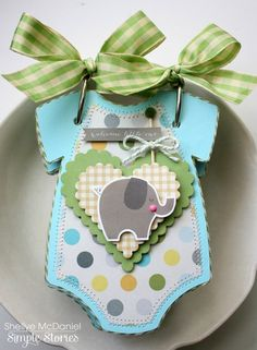 Darling Baby Boy Onesie Mini Album created by design team member Shellye McDaniel using our Baby Boy SN@P! Set.
