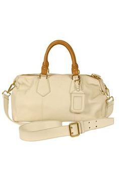 Prada - Ivory Tote Bag with Tan Handles