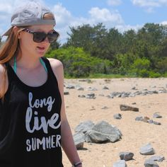 The perfect beach outfit. Must have summer tank top.