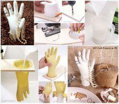 Plaster hand jewelry display