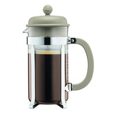 Bodum CAFFETTIERA French press coffee maker with plastic lid, 8 cup, l, 34 oz, stainless steel filter Red Best Coffee Maker, French Press Coffee Maker, French Coffee, Making Cold Brew Coffee, How To Make Coffee, Chefs, Coffee Accessories, Coffee Brewer, Espresso Coffee
