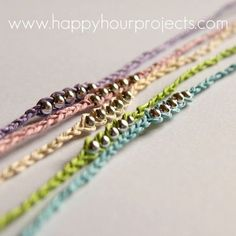 Friendship Bracelets / Wish Bracelets (or anklets) so cute and easy (bracelets,diy,handmade,friendship bracelet)